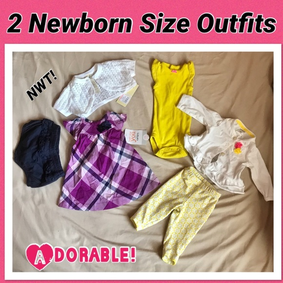 Other - Lot of 2 Newborn Outfits (6pieces)